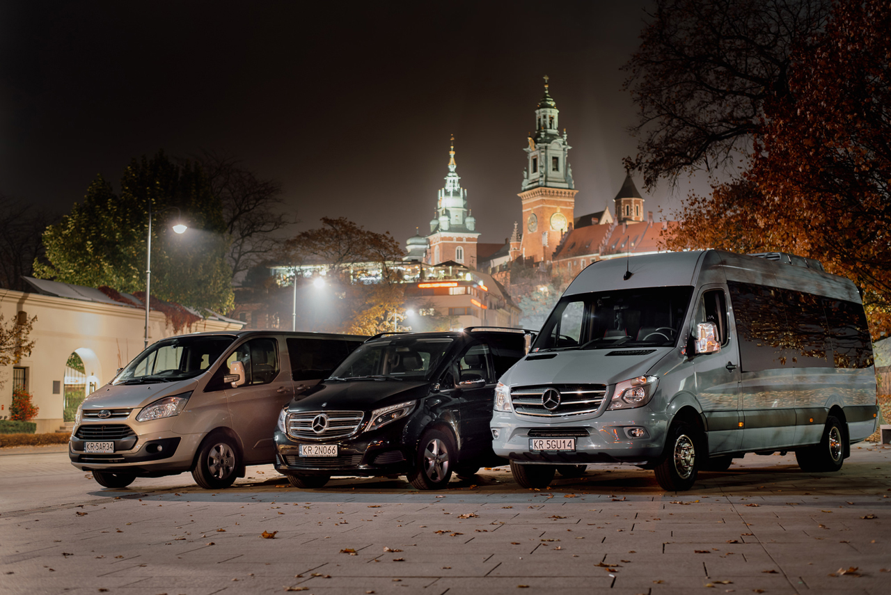 Krakow group transfer to airport, vip services by mercedes