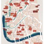 Legendary map of centrum of krakow