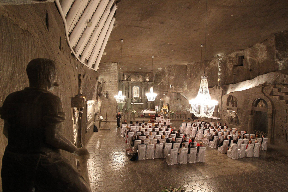 Wieliczka Salt Mine St Kinga Chapel wedding