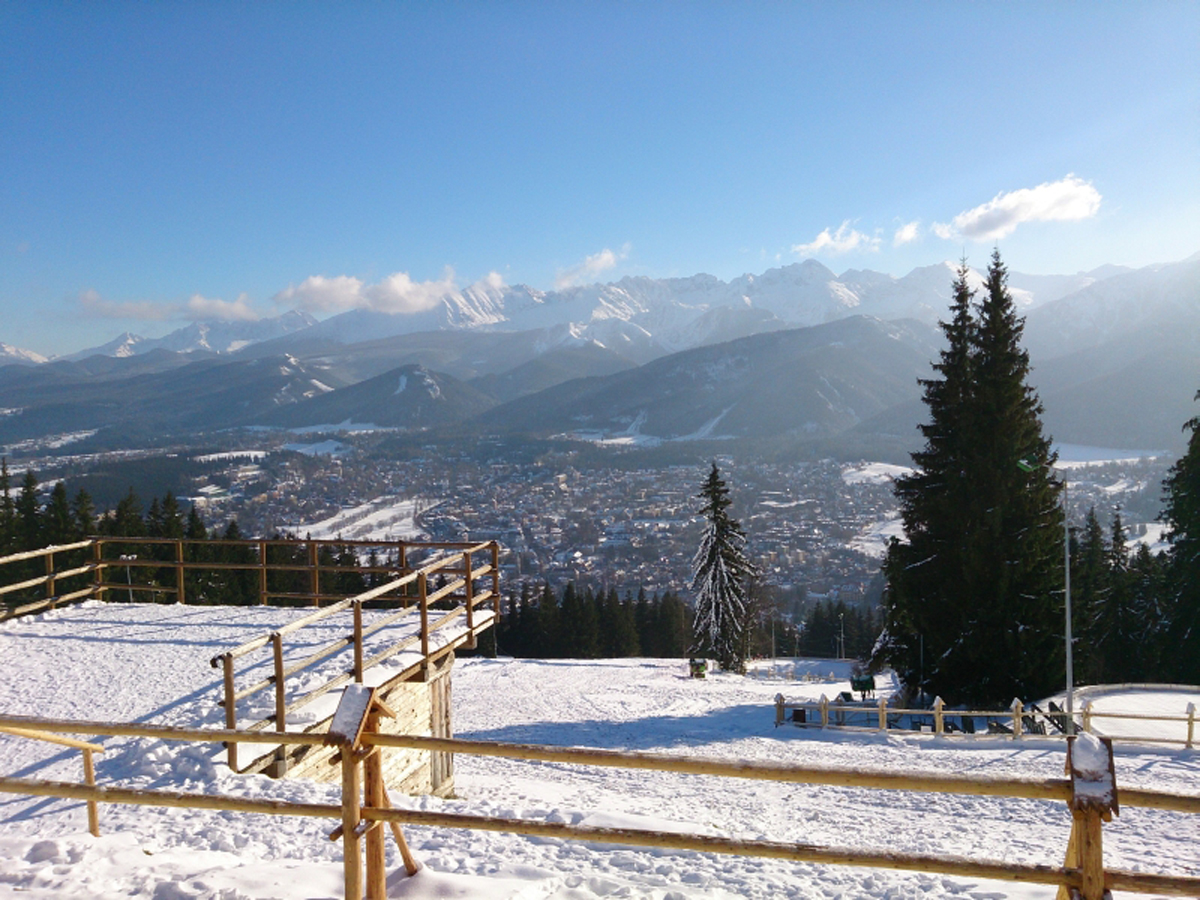Zakopane Tatras Mountains view from gubalowka tour transfer trip